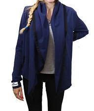 Giacca da donna blu aperta Deha cotone casual moda con cappuccio manica lunga