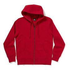 Plain Blank Zip Through Hooded Sweatshirt Mens Hoodie All Colours Cotton Poly