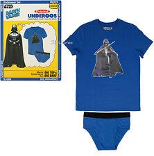 NEW STAR WARS DARTH VADER Underoos Underwear Top Tee Shirt & Briefs ADULT S-XX
