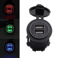 5V 2.1A Dual USB Charger Socket Adapter Outlet for 12V 24V Motorcycle Car BF