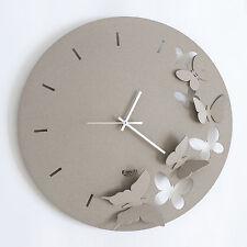 Arti e Mestieri Orologio da parete Butterfly Spring design made in italy