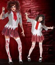 Zombie School Girl Creepy Carrie Halloween Adult Costume Deluxe Bloody Horror