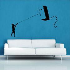 Banksy Go Fly A Kite Decal Vinyl Wall Sticker Art Graffitti Street