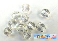 BIGIOTTERIA PERLINE -20 mezzi cristalli 4 mm Crystal