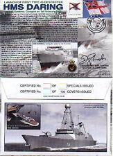 HMS DARING NAVY SIGNED TYPE 45 DESTROYER DAUNTLESS DIAMOND DRAGON DEFENDER DUNC