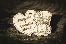 Calamite segnaposto sposi matrimonio eventi personalizzate in legno nomi e data