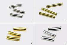 Röhrchen Metallröhrchen Röhre gebogen Verbinder Perlen Tube Zwischenperlen, S80