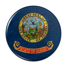 Rustic Idaho State Flag Distressed USA Pinback Button Pin Badge