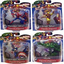 "Marvel 4"" Superhero Action Figures Spiderman Ironman Hulk Captain America Gift"