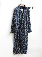Men Kimono Yukata  Pajamas Cotton Soft Japanese Bathrobe Robe Gown Nightwear Hot
