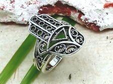 Hand der Fatima 925 Silber Ring Damen Fatimas Hand Hamsa