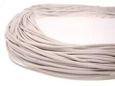 Lederschnur (ab 0,34€/m) Rund 1,5 mm. Weiß. Lederband. Länge: wählbar