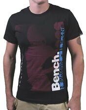 Bench Mens Black Hot Crowd Industry Standard High Quality T-Shirt NWT