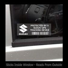 Protected by Suzuki Tracker Gps dispositivo-Finestra Adesivo/Segno-Sicurezza, AUTO