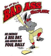 BAD ASS JACK ASS BASEBALL BALL PLAYER FUNNY T-SHIRT BA1