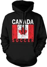 Canada Flag Soccer Canadian Pride Canadien Fierté De Drapeau Hoodie Pullover