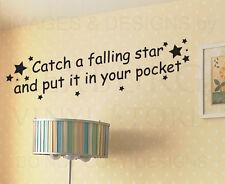 Wall Decal Art Sticker Quote Vinyl Lettering Catch a Falling Star Nursery B16