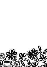 Nellie SNELLEN HOBBY soluzione Embossing FOLDER-FLOWER border-1 hsf002 rediced