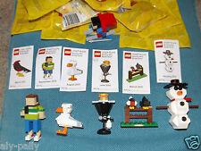 LEGO MINI FIGURE crea MONTHLY 2009 2010 2011 spedizione gratuita nel Regno Unito