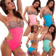Monokini mujer traje de baño mar todo leopardo push up con aro nuevo XK16005