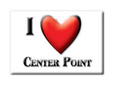 SOUVENIR USA - IOWA FRIDGE MAGNET AMERICA I LOVE CENTER POINT (LINN COUNTY)