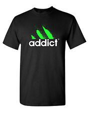 Addict T-Shirt Funny Dope Drug Cocaine EDM DJ Club Hip-Hop Rap Street Coachella