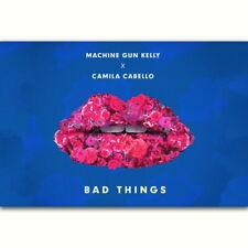 59916 Machine Gun Kelly Camila Cabello Bad Things Wall Print Poster CA