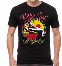 Motley Crue Girls Heels Hard Rock Heavy Glam Metal Music Band T Shirt MOT10245