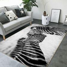 3D Zebra Stripes I227 Animal Non Slip Rug Mat Round Elegant Carpet Wendy