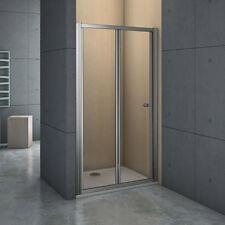 Aica Frame Bi Fold Shower Enclosure Walk in 5mm Safety Glass Door Screen BRG