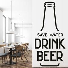 Bespaar water Bier citaat Muursticker WS-46185