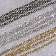5 mètres=500cm chaine AU CHOIX 3mm x 2mm forçat cranté métal argenté doré bronze
