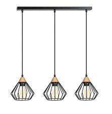 Luz de techo moderna de 3 Marco de Metal industrial negro de cobre sombra Loft Cocina