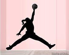 Basketball Jump Girl  ~ Wall or Window Decal