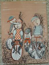 GRACIELA RODO BOULANGER - Original Lithograph - Children On Bicycles - Signed