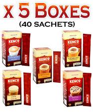 KENCO INSTANT COFFEE LATTE,CAPPUCCINO, MOCHA, FLAT WHITE 40 SACHETS (5 BOXES)