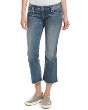 True Religion Women's Karlie Low Rise Bell Bottom Cropped Flare Jeans in Blue Z