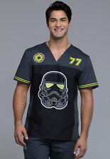Cherokee Tooniforms Medical Scrubs Star Wars Trooper 77 Men's Top Sz XS-XXL NWT