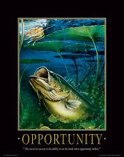 Large Mouth Bass Fishing Motivational Poster Vintage Fishing Lures   MVP94
