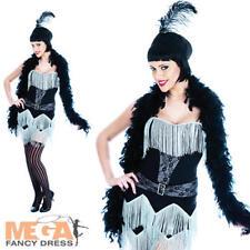 Charleston Ragazza Anni Venti anni 1920 20 FANCY DRESS Roaring 20V Costume Vestito UK 10-22