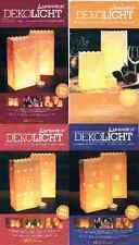 8 10 Tüten Dekolicht Windlicht Luminaria Lichttüten verschiedene Motive
