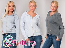 Stunning Hoodie with Zipper New Look Activewear Coat Pocket Size 10-14 FT1233