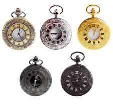 Vintage Skeleton Steampunk Dial Mechanical Pendant Pocket Watch Gift Chain