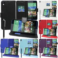 funda protectora para HTC Desire 816/ 816G Dual Sim Móvil Cartera Funda Con Tapa