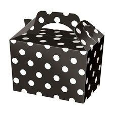 Cajas de alimentos Negro Lunares ~ ~ Caja de Almuerzo Comida irregulares botín placa de fiesta de cumpleaños