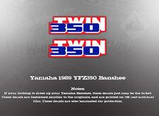 YAMAHA 1989 YFZ350 BANSHEE REAR FENDER DECALS GRAPHICS