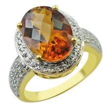 Fine Jewelry Genuine Madiera Citrine Sterling Silver Checkerboard Cushion Ring ldayjDN3y