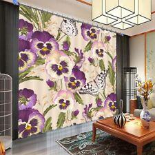 Purple Nice Clover Bud 3D Curtain Blockout Photo Printing Curtains Drape Fabric