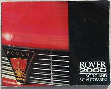 Rover 2000 TC, SC, Automatic sales brochure
