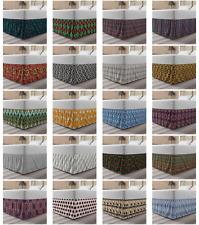 Ambesonne Oriental Bedskirt Elastic Wrap Around Skirt Gathered Design